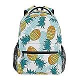 Xinkaize Mochila impermeable unisex de viaje, bolsa de deporte al aire libre, senderismo, camping, escuela, bolsa de libros – verano frutas piña