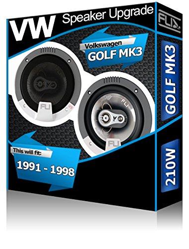 Porte arrière pour VW Golf MK3 Orateurs FLI Audio Haut-parleur de voiture Kit de 210 W