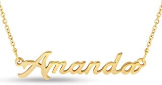 Beam Reach Personalized Name Necklace Pendant in Gold Tone, 100 Names Available for Immediate Purchase!