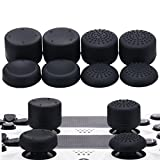 MXRC Thumb Grip Thumbstick Joystick Cap 4 Styles All 8 Units FPS Professional Sets Pack for PS2, PS3, PS4, Xbox 360,Controller Black