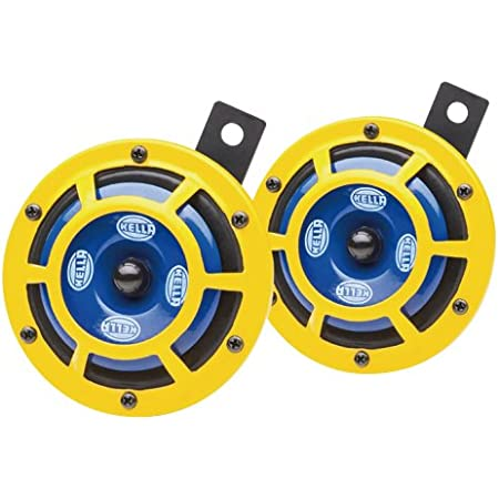 Details about  /Hella Yellow Panther Sharptone Dual Horn Set 12V DC Car Bike Universal New