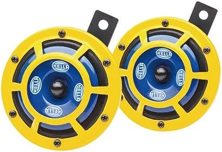 【ドイツ HELLA/ヘラー社製】 シャープ ツイン トーン (ディスク タイプ) ホーン 「Sharp Twin Tone Horn」 カラー : イエロー(アウター)/ネイビー(インナー) ・ 内容 : 高音+低音 2p セット 車検対応 ※ HELLA/ヘラー社は、 BENZ、BMW等の欧州車自動車メーカーへ純正 (OEM) パーツを供給している、ドイツを代表する信頼のメーカーです。 320287