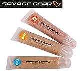 Savage Gear Lockpaste Scent Pasta Kit (Garlic, Shrimp, Trout Meat), Angelpaste für Kunstköder