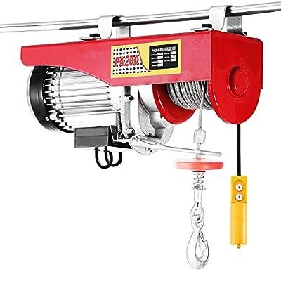 Happybuy Lift Electric Hoist 440 880 1320 1760 LBS Electric Hoist 110V Overhead Crane Lift