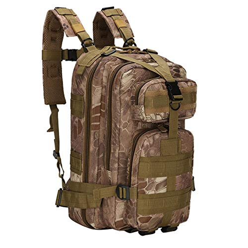 Madeinely Camping Backpack Outdoor Backpack Mountain Hiking Daypack Camouflage Large Capacity Multi Pockets Webbings Rucksacks Hiking Backpacks (Size:Free Size; Color:8#)