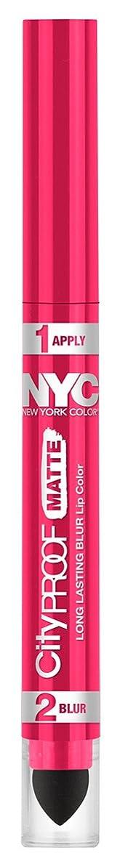 ペルー着陸ポテトNYC City Proof Matte Blur Lip Color - Fashion Fuchsia (並行輸入品)