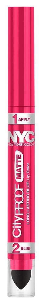 リスト正しくベアリングサークルNYC City Proof Matte Blur Lip Color - Fashion Fuchsia (並行輸入品)