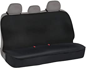 BDK BDSC-278 AllProtect Waterproof Neoprene Rear Bench Seat Cover for Car SUV Truck - Quick Install - Heavy Duty Universal Fit - for Work, Utility, Kids, Pets & Vehicle Protection (Solid Black)