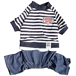 Dog Costume Clothes, Cute Denim Overalls for Small & Medium Pets, Boy & Girl Dogs Coats Jeans T-Shirts Sweatshirts