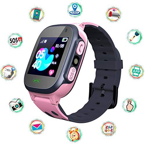 KAMLIKE Kinder Smartwatch LBS Tracker Smart Watch mit Taschenlampen Anti-Lost Voice Chat für Jungen Mädchen Geburtstagsgeschenke elektronische Uhr