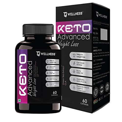 TQ Wellness Advanced KETO Weight Loss Fat Burner| Slimming 60 Capsules For Men and Women With Green Coffee, Tea Extract and Linoleic Acid (Pack Of 1)