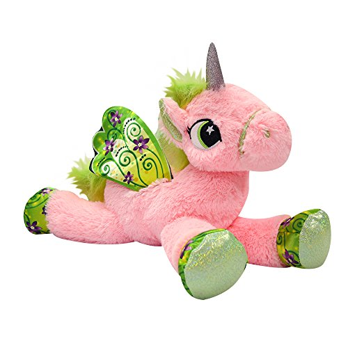 "Novelty, Inc. Jumbo 18"" Plush Magical Unicorn Pony Stuffed Animal - Pink"