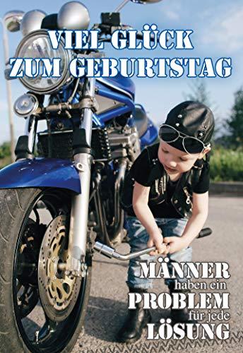 Geburtstagskarte Motorrad, Geburtstag, B6, im Format DIN B6 176 x 125 mm, Klappkarte inkl. Umschlag, Motiv: Motorrad