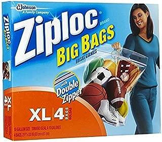 Ziploc XL HD Big Bag (4 Bags) Packaging may vary