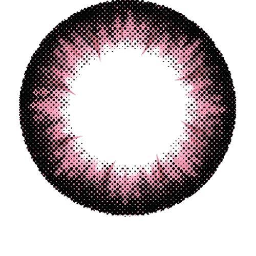 Matlens - Pro Trend Farbige Kontaktlinsen ohne Stärke rosa Big eyes Apollo NPX-A07 2 Linsen 1 Kontaktlinsenbehälter 1 Pflegemittel 50ml