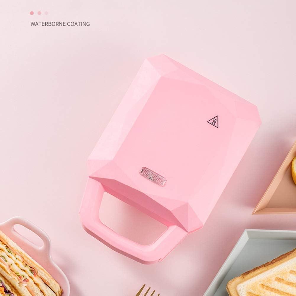 LIANYANG Machine à Muffins 3 en 1,Machine à Faire des Muffins avec revêtement Amovible antiadhésif et contrôle Automatique de la température(Couleur:Rose,Taille:22x15cm) Pink