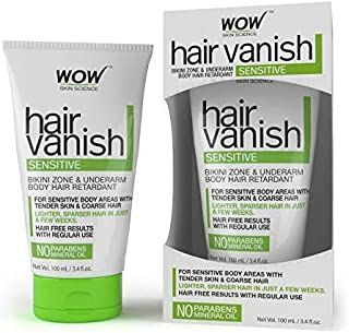 Wow Hair Vanish Sensitive No Parabens and Mineral Oil, 100ml