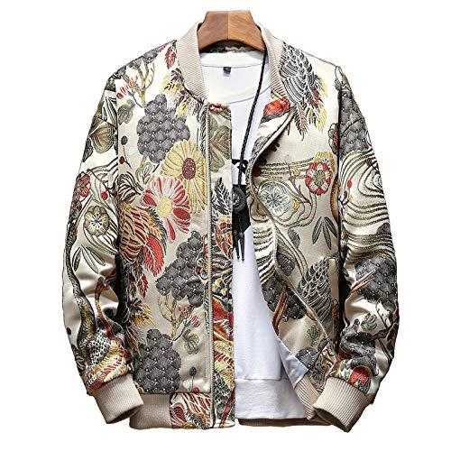 Loeay Mens Casual Jacke japanische Stickerei Männer Jacke Mann Hip Hop Streetwear 2019 Herbst Neue Bomberjacke Männer KleidungXL