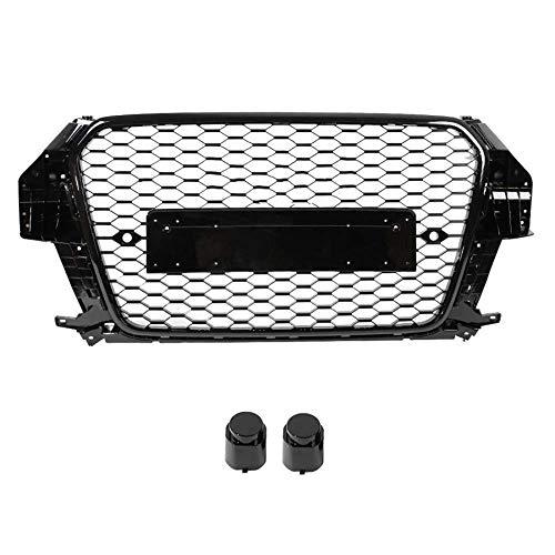 BLH-AMY Parrilla De Parachoques Delantero, 1 Pieza De Rejilla Central Nueva para Audi Q3 2013 2014 2015 (Reacondicionado para Estilo Rsq3) Accesorios para Automóviles