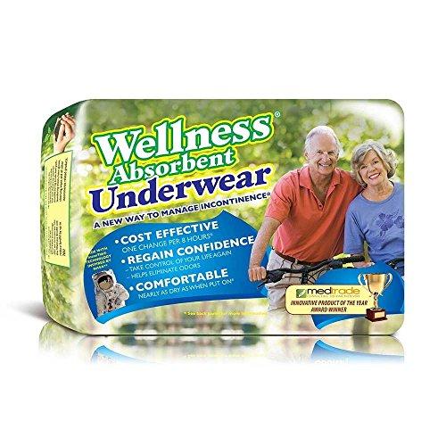 Wellness Absorbent Underwear w/NASA Technology, Large, Pack/16