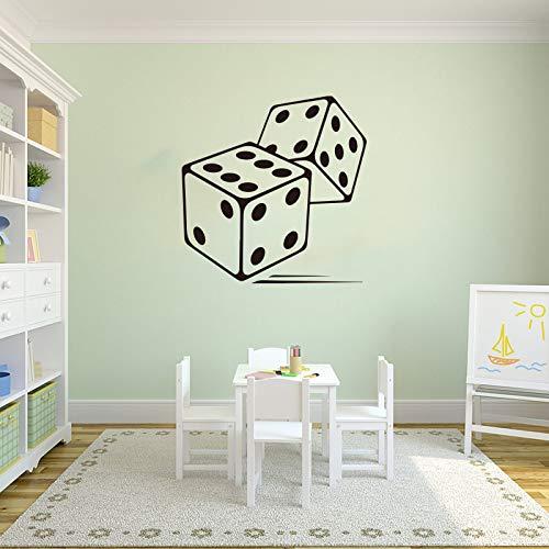 yaonuli Rolling Dice Brettspiel Wandaufkleber Schlafzimmer Würfel Spiel Wandtattoo Vinyl Home Decoration 73X43cm