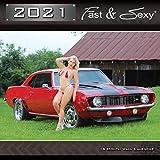 2021 Fast & Sexy Car Girl Wall Calendar 12x12 inches (PG Version)