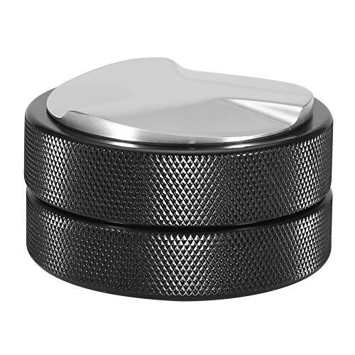 Socobeta Tamper de frijoles, Tamper de café conveniente 51 mm para grano de café para prensado de grano de café (parte inferior del trébol negro, 12)