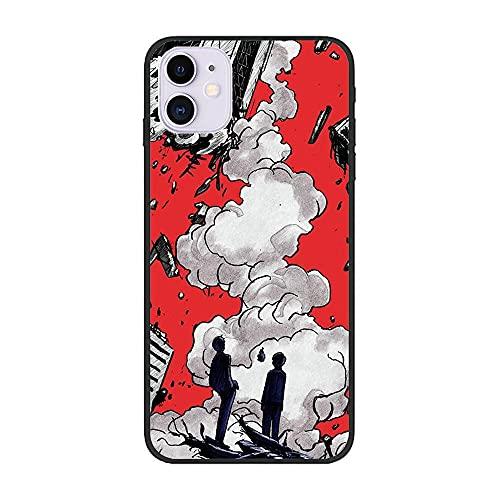 Black Thin Soft Matte TPU Gel Coque Fundas Anti-Slip Case for Apple iPhone 12 Mini-Mob-Psycho 100 Kageyama-Shigeo 3