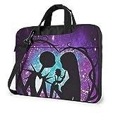 15.6 Inch Laptop Bag Jack and Sally Nightmare Before Christmas Laptop Briefcase Shoulder Messenger Bag Case Sleeve