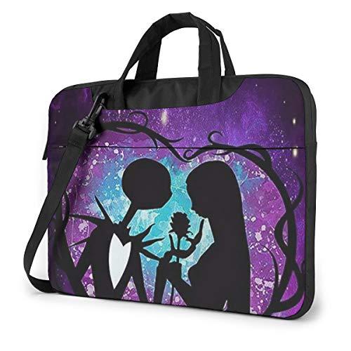 14 Inch Laptop Bag Jack and Sally Nightmare Before Christmas Laptop Briefcase Shoulder Messenger Bag Case Sleeve