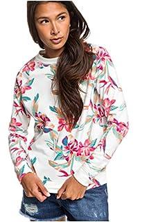 Roxy Damen Night is Young - Sweatshirt für Frauen Fleece Top, Snow White Tropic Call, S (B0825PKXF4) | Amazon price tracker / tracking, Amazon price history charts, Amazon price watches, Amazon price drop alerts