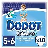 Dodot Splashers Talla 5, 10 Pañales Bañadores Desechables, 14+kg, No Se Hinchan Y Fácil de quitar