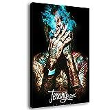 Wiz Khalifa Leinwand-Kunst-Poster und Wand-Kunstdruck,