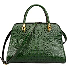 full-grain cow leather. Fabric lining Tips: stiff leather (structure handbag), please kindly do not kindly do not order this item if you do not like stiff leather Three pockets in the interior. Attached an adjustable and removable crossbody strap 13....
