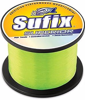 Sufix Superior 1/4-Pound Spool Size Fishing Line  Yellow 12-Pound