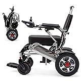 L&F Faltbarer elektrischer Rollstuhl Leichter Aluminiumlegierungs-Mehrzweckfaltrollstuhl (mit Einer bequemen Kopfstütze)