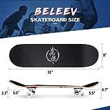Zoom IMG-2 beleev skateboard 31x8 inch completo