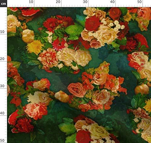 Shabby, Vintage, Rosen, Blumen, Kohl, Retro, Barock Stoffe - Individuell Bedruckt von Spoonflower -...