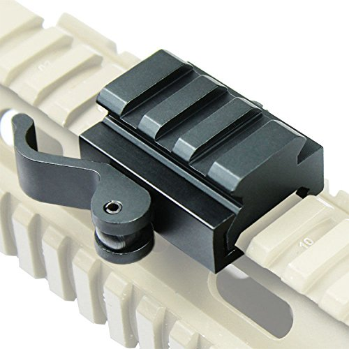 Etbotu 40mm Tactical Quick Release Bracket 3 Slot Gewehr Picatinny Weaver Universal Adapter Riser Rail