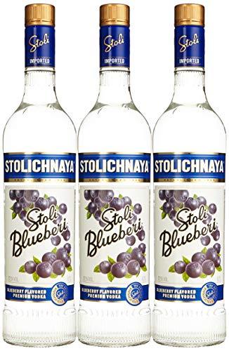 Stolichnaya Blueberi Wodka (3 x 0.70 l)