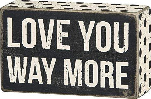 """Primitives by Kathy 23594 Polka Dot Trimmed Box Sign, 5"""" x 3"""", Way More"""