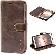 Mulbess Vintage Huawei Mate 9 Case Wallet, Flip Leather Phone Case with Card Holder for Huawei Mate 9 Cover, Coffee Brown