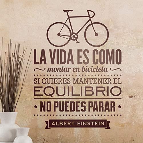 Vinilos decorativos de bicicletas casa decoracion - la vida es como una bicicleta de pared de vinilo pegatinas Pegatinas de Espana 56cmx42cm español