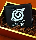 WYTX Cartera Naruto Cosplay Cartera Escritura Ojos Redondos Paquete de Tarjetas Personajes de Konoha Anime Adulto COS Equipaje Halloween, 002