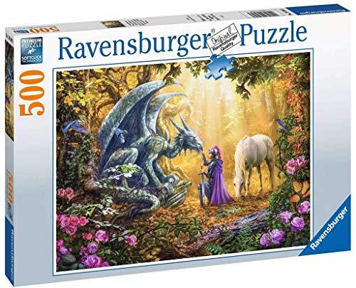 Puzzle - kompatibel mit Ravensburger Puzzle 16580 - Drachenflüsterer 500 Teile