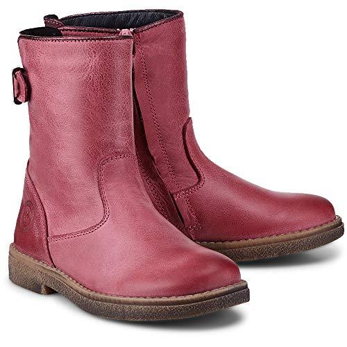 skør Kinder (Mädchen) Mädchen-Stiefel aus Leder, Kinder-Schuhe im coolen Pink mit schicken Schnallen-Details Pink Glattleder 26