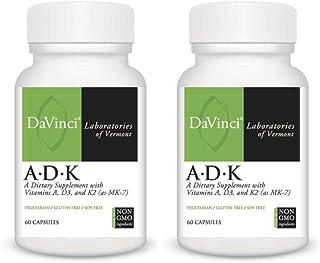 Davinci Laboratories A.D.K Vitamins Supplement Bundle (2-Pack, 120 Capsules) (2 Items)