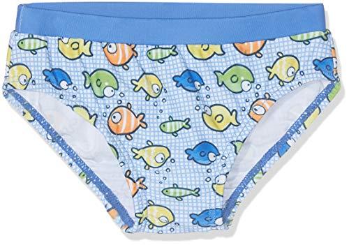 Chicco Baby-Jungen Costume Da Bagno Slip Boxershorts, Türkis (Azzurro Stampato 026), 56 (Herstellergröße: 062)