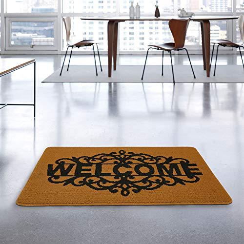 "MetaBall Felpudos Entrada casa, Antideslizante, súper Absorbente, tappeto esterno lavabile in lavatrice Doormat (17"" X 30"", Royal Sand Welcome)"