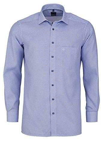 OLYMP Herren Hemd Modern Fit Langarm bleu (50) 44
